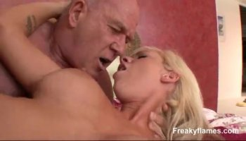 Blonde babe Katy Jayne having her first lesbian sex